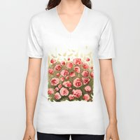 gradient V-neck T-shirts featuring Flowery gradient by Ivanushka Tzepesh