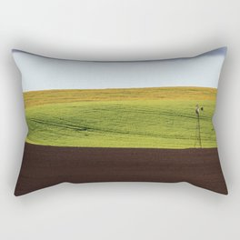 Canola Field Rectangular Pillow