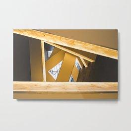 Lookup of Golden Bridges Metal Print