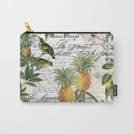 Tropical Fruit Illustration Vintage Style Carry-All Pouch