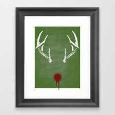 Rudolph the Bloody Nosed Reindeer Framed Art Print