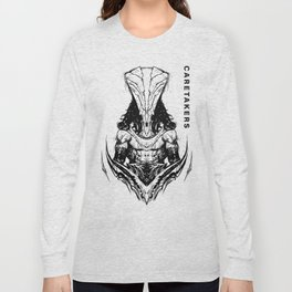 We Are The Caretakers B/W Long Sleeve T-shirt