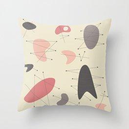Pendan - Pink Throw Pillow