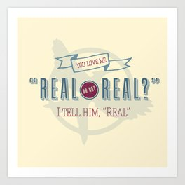 Read or Not Real Art Print