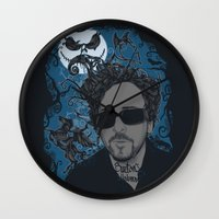 tim burton Wall Clocks featuring Burton´s Universe by 2mzdesign
