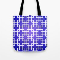 1d Tote Bags featuring Pattern 1D by Robin Curtiss