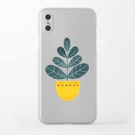 Yellow pot Clear iPhone Case