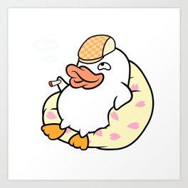 Silly duck Art Print