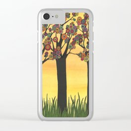 Summer Meadow Clear iPhone Case