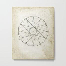 Geometry Sketch Six Metal Print