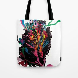 """Its so far out, the way out is in"" Tote Bag"
