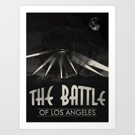 Battle of Los Angeles Art Print