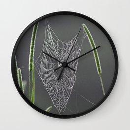 Dewy Web Wall Clock