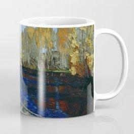 Autumn by the mill pond landscape painting by Stanislav Zhukovsky Coffee Mug