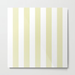 Spring green (Crayola) - solid color - white vertical lines pattern Metal Print
