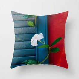 Charleston Blooms Throw Pillow