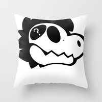 logo Throw Pillows featuring Logo! by Mynosylexia