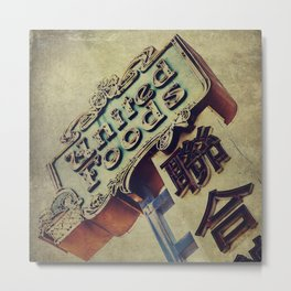 United Foods Neon Sign, Chinatown Metal Print