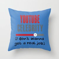 "celebrity Throw Pillows featuring ""Celebrity"" by Rachcox"