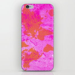 COME WITH ME AROUND THE WORLD (HOT PINK) iPhone Skin