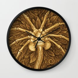 Facehugger (Sepia) Wall Clock