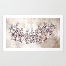 Lepus Leap Art Print