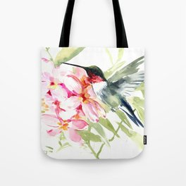 Hummingbird and Plumerias Tote Bag