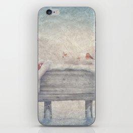 Winter wonderland birds  iPhone Skin