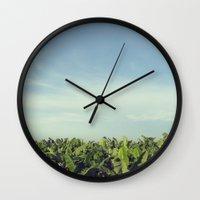 colombia Wall Clocks featuring Zona Bananera - Colombia by Josefina Bolano