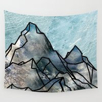 mountain Wall Tapestries featuring Mountain by madbiffymorghulis