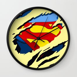 superhero torn - SuperMan Wall Clock
