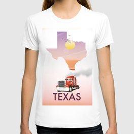 Texas trucking poster T-shirt