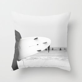 catch a wave II Throw Pillow