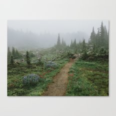 Washington Wildflower Fog Canvas Print