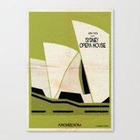 babina Canvas Prints featuring Sydney Opera House by federico babina