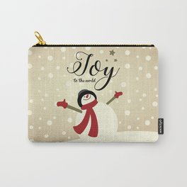Snowman's Joy To The World Carry-All Pouch