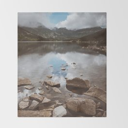 Mountain Lake - Landscape and Nature Photography Throw Blanket