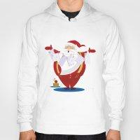 santa Hoodies featuring Santa by rusanovska