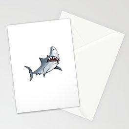 Shark cartoon Stationery Cards