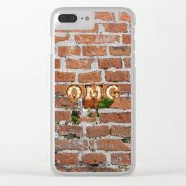 O M G  - Brick Clear iPhone Case