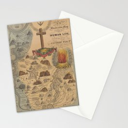 Old Biblical Map of The Sacred Writ (1847) Stationery Cards