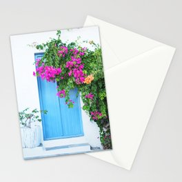 249. Flowers Door, Greece Stationery Cards