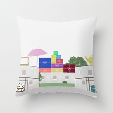 Garage Sales Throw Pillow