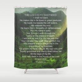 Psalms 23 Lords Prayer Shower Curtain