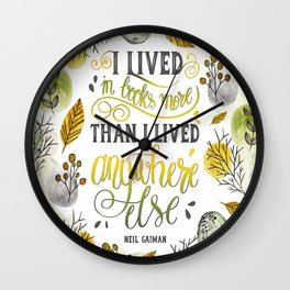 I LIVED IN BOOKS Wall Clock