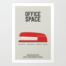 Office Space – Minimal Movie Poster – revised Art Print