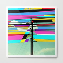 COLLAGE DIGITAL COLORFUL Metal Print