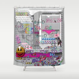 internetted2 Shower Curtain
