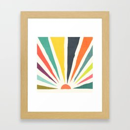 Rainbow ray Gerahmter Kunstdruck