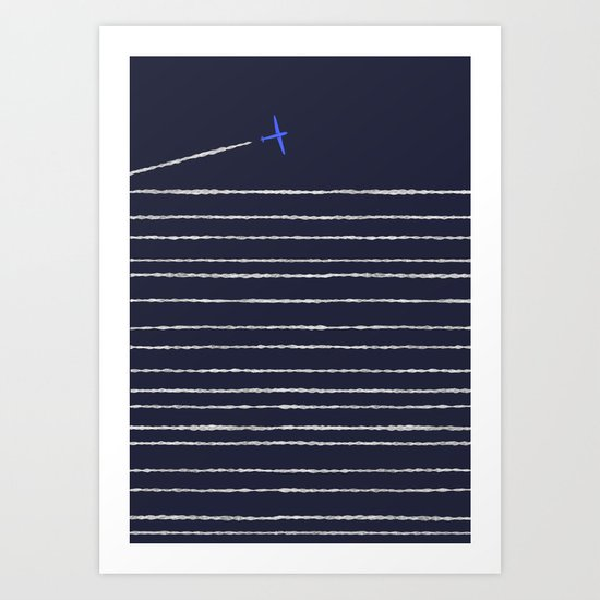 Boooo, Night-Flight! Art Print